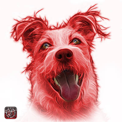 Painting - Red Terrier Mix 2989 - Wb by James Ahn