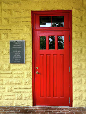 Photograph - Red Theatre Door by Kathy K McClellan
