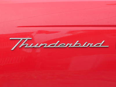 Photograph - Red Thunderbird by Richard Reeve