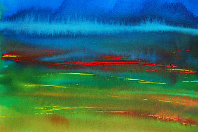 Painting - Red Tide Abstract by Jani Freimann