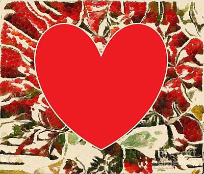 Painting - Red Tigger Roses by Catherine Lott