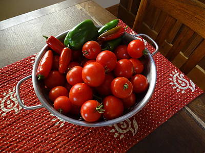 Photograph - Red Tomatoes by Mary Halpin