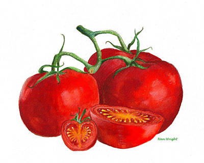 Red Tomatoes Art Print by Nan Wright