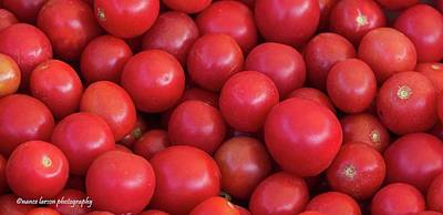 Photograph - Red Tomatoes by Nance Larson
