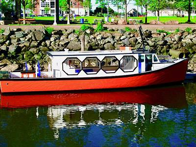 Photograph - Red Tour Boat by Stephanie Moore