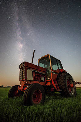 Photograph - Red Tractor by Aaron J Groen