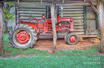 Photograph - Red Tractor by Marion Johnson