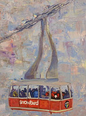 Tram Red Painting - Red Tram by Paul Winter