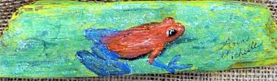 Mixed Media - Red Tree Frog by Ann Michelle Swadener