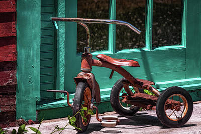 Photograph - Red Tricycle by James Barber