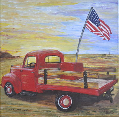 Painting - Red Truck by Debbie Baker