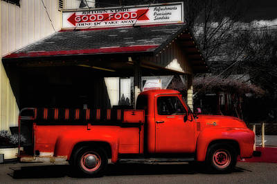 Red Truck Jimtown Store Art Print by Garry Gay