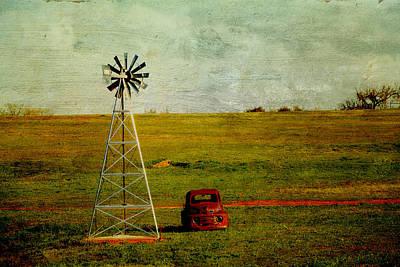 Red Truck Red Dirt Art Print by Toni Hopper