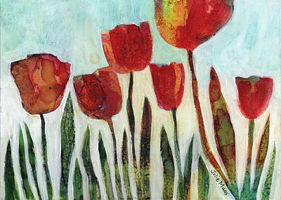 Painting - Red Tulips by Julie Maas