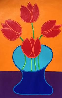Painting - Red Tulips by Matthew Brzostoski