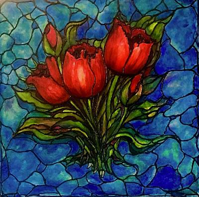 Painting - Red Tulips by Rae Chichilnitsky