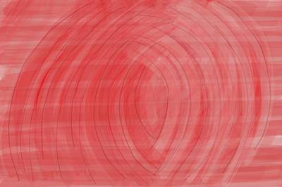 Expressionism Digital Art Drawing - Red Tunnel by Shanhan Truitt-Roos