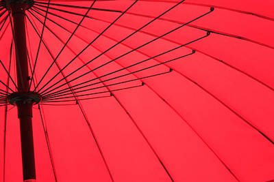 Photograph - Red Umbrella Abstract by Tony Grider