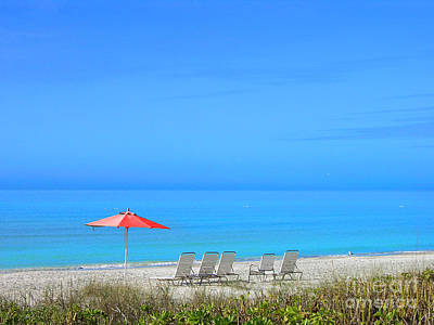 Photograph - Red Umbrella In A Blue World by Mariarosa Rockefeller