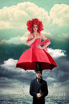 Magritte Photograph - Red Umbrella by Juli Scalzi
