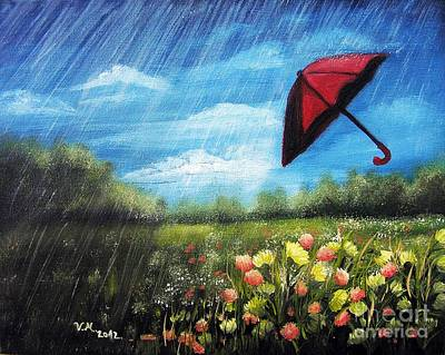Painting - Red Umbrella by Vesna Martinjak