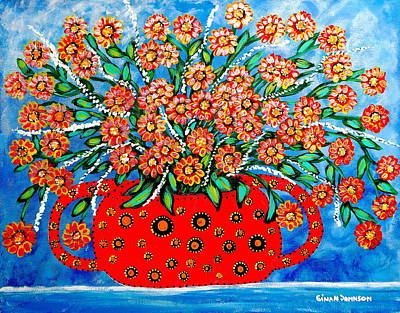 Painting - Red Vase by Gina Nicolae Johnson