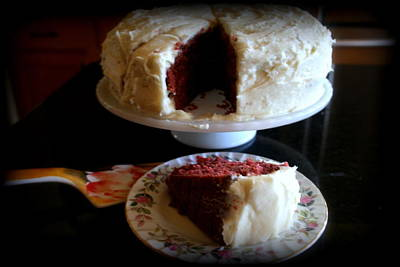 Photograph - Red Velvet Cake by Kay Novy