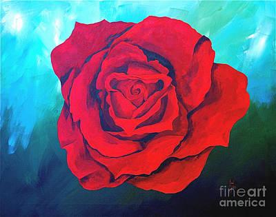 Red Velvet Art Print by Herschel Fall