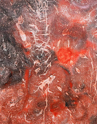 Moon Abstractions Painting - Red Velvet by Sumit Mehndiratta