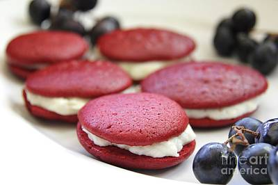 Photograph - Red Velvet Whoopie Pie  by Suzanne Oesterling