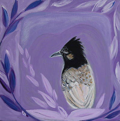 Wall Art - Painting - Red-vented Bulbul by Evelyn Niehaus