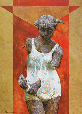 Communist Painting - Red Venus by Victoria Kharchenko