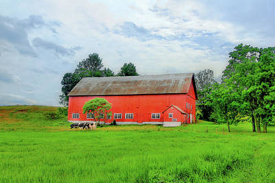 Photograph - Red Vermont Barn by Brian Pflanz