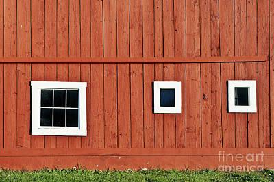 Red Vermont Barn.  Art Print by John Greim