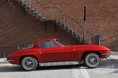 Antique Automobiles Photograph - Red Vette by Dennis Hedberg