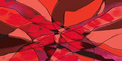 Digital Art - Red by Victor Shelley