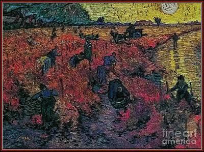 Red Vineyards  Art Print