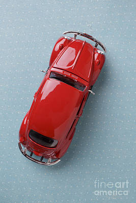 Volkswagen Beetle Photograph - Red Volkswagen Beetle From Above by Edward Fielding