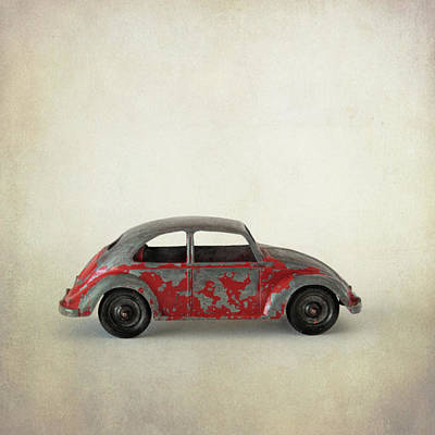 Photograph - Red Volkswagon Beetle Toy by David and Carol Kelly