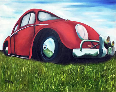 Painting - Red Vw by Dean Glorso