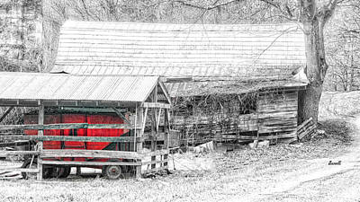 Photograph - Red Wagon by Dennis Baswell