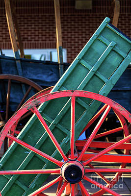 Photograph - Red Wagon Wheel by George Sheldon