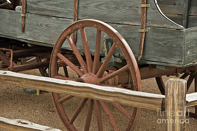 Photograph - Red Wagon Wheel by Kirt Tisdale