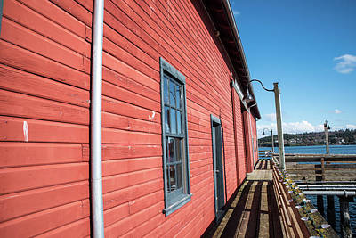 Photograph - Red Wall At Coupeville Wharf by Tom Cochran