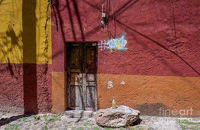 Absolut Vodka Photograph - Red Wall - San Miguel De Allende by Amy Fearn