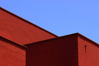 Photograph - Red Walls Blue Sky by Prakash Ghai