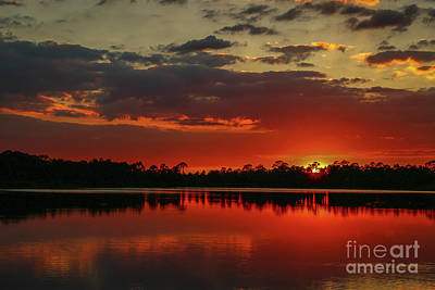 Photograph - Red Water Sunset by Tom Claud