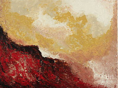 Painting - Red Waves by Preethi Mathialagan