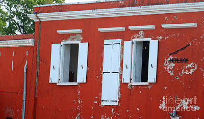 Photograph - Red Weathered Walls by Mary Haber