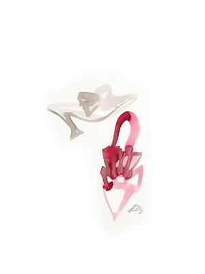 Red Wedding Shoes Art Print